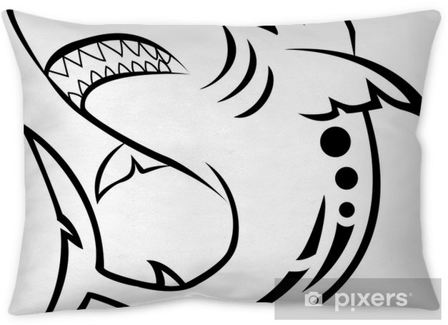 99786eee8771 angry shark tribal tattoo Throw Pillow • Pixers® • We live to change
