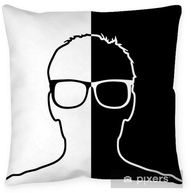 Anonym mit Brille Throw Pillow - People