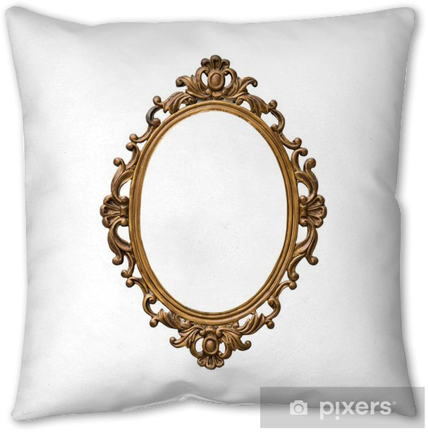 Antique Golden Frame Isolated On White Background Throw Pillow Pixers We Live To Change