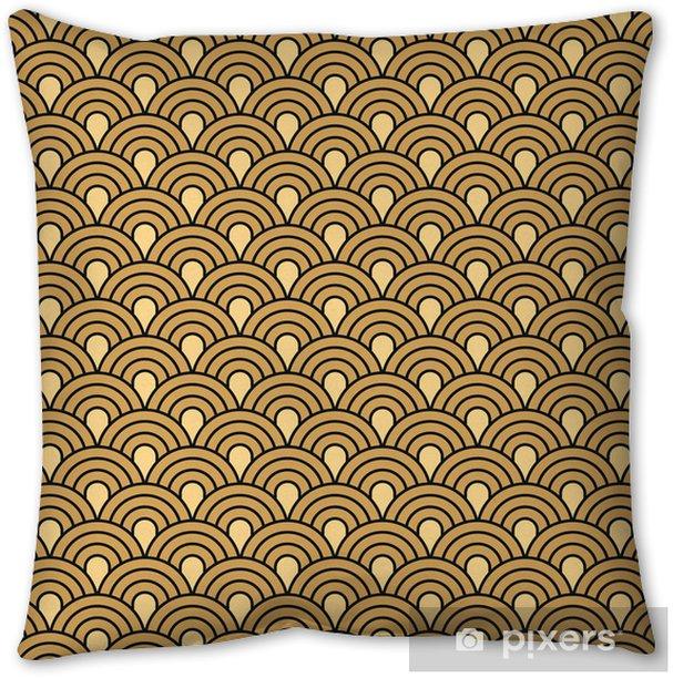 Art Deco seamless vintage wallpaper vector pattern Throw Pillow - Backgrounds