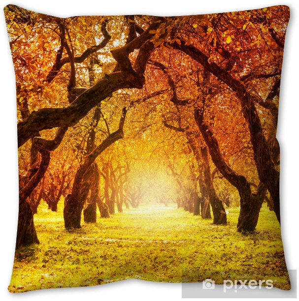 Autumn Fall Autumnal Park Throw Pillow Pixers We Live To Change