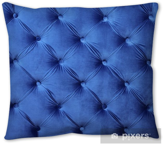 Blue Capitone Tufted Fabric Upholstery
