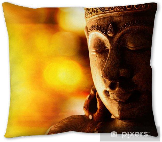 Bronze Buddha Statue Throw Pillow Pixers We Live To Change