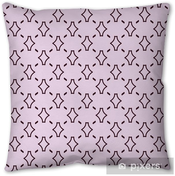 Cute delicate seamless abstract background pattern with repeating elements on the pink background. Vector illustration eps Throw Pillow - Graphic Resources