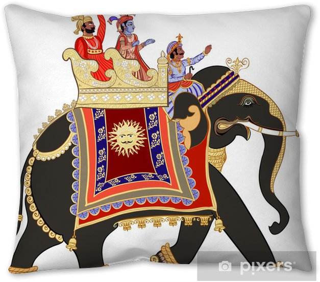 Decorated Indian Elephant Throw Pillow Pixers We Live To Change