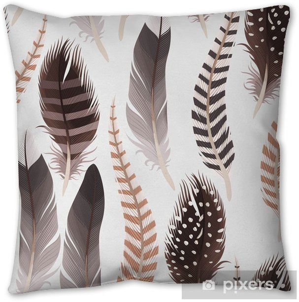Decorative Feathers Seamless Throw Pillow Pixers We Live To Change