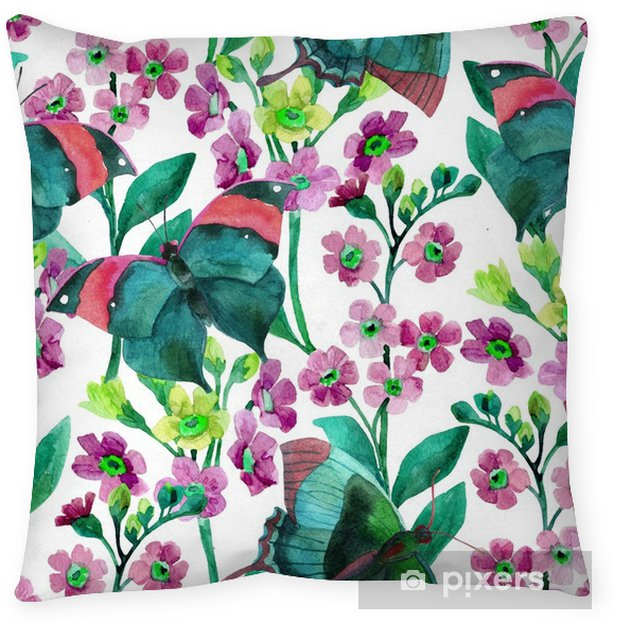 Forget-me-not Flowers Throw Pillow - Plants and Flowers