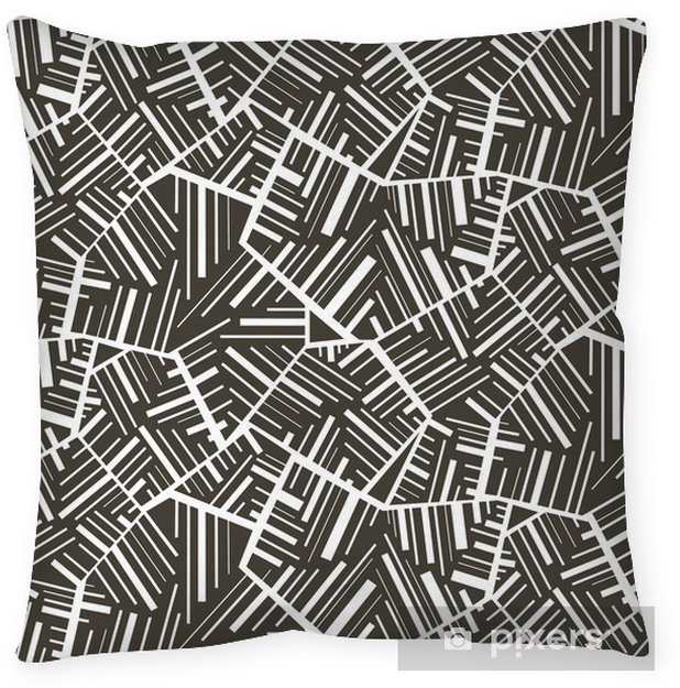 Geometric abstract seamless pattern motif background. Colorful Throw Pillow - Backgrounds