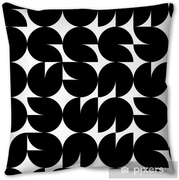 Geometric seamless mosaic tiles pattern, vector Throw Pillow - Other Feelings