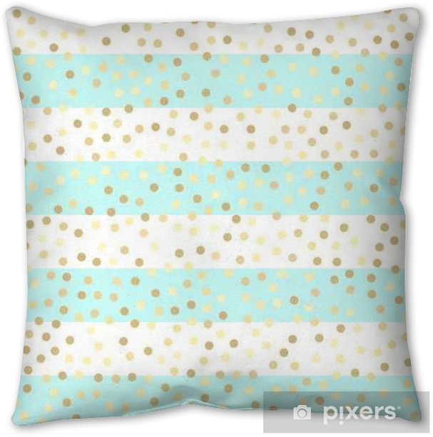 Gold glitter seamless pattern, striped background Throw Pillow - Graphic Resources