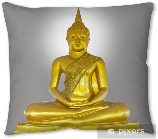 Golden Buddha Statue Throw Pillow Pixers We Live To Change