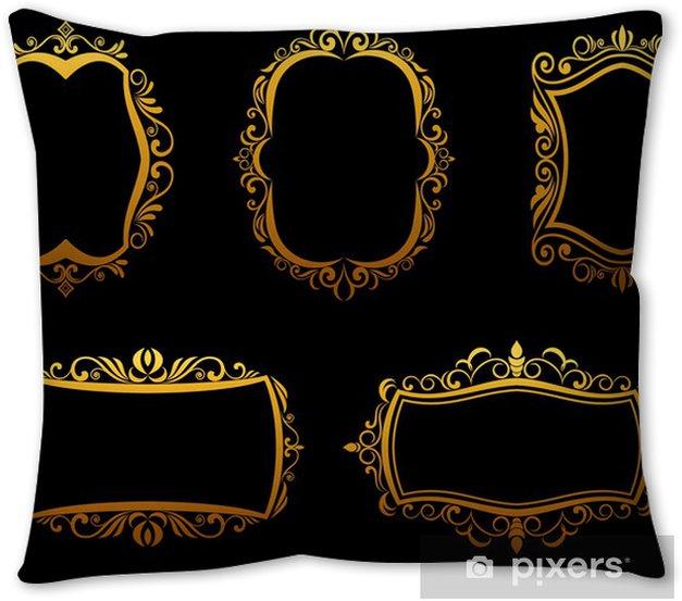 Golden Frames Throw Pillow Pixers We Live To Change