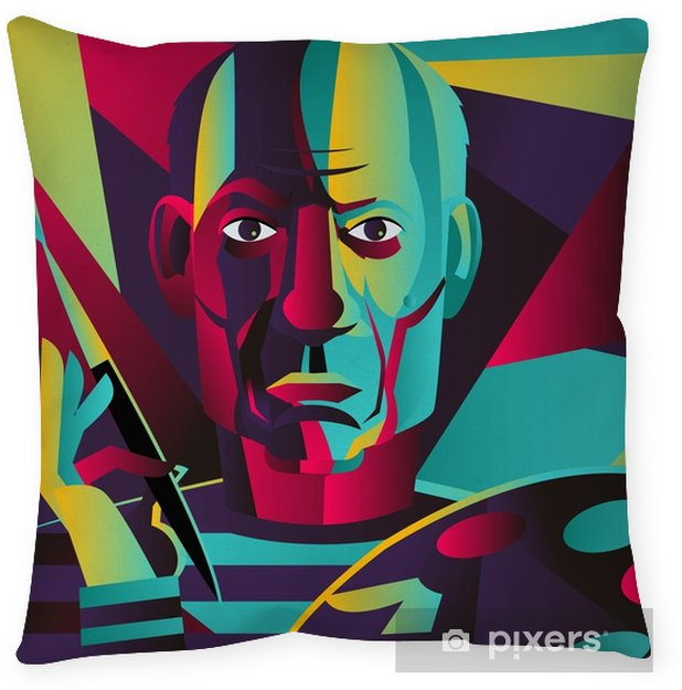 great spanish colorful portrait painter Throw Pillow - Hobbies and Leisure