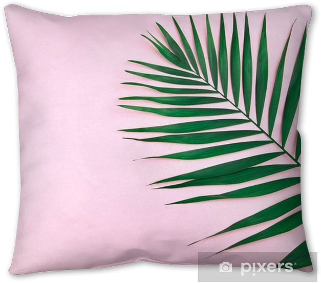 green coconut leaf Throw Pillow - Plants and Flowers