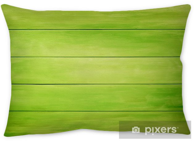 Green wood planks background Throw Pillow - Graphic Resources
