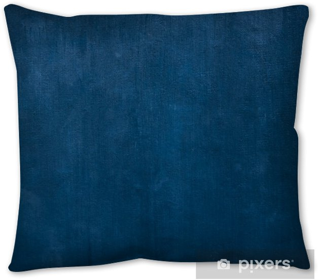 Grunge Blue painted on cement background and texture Throw Pillow - Graphic Resources