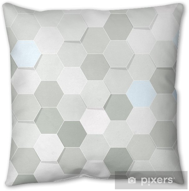 Hexagon Tile Transparent Background Throw Pillow Pixers We Live To Change
