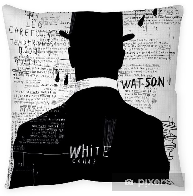 In the hat Throw Pillow - Urban art