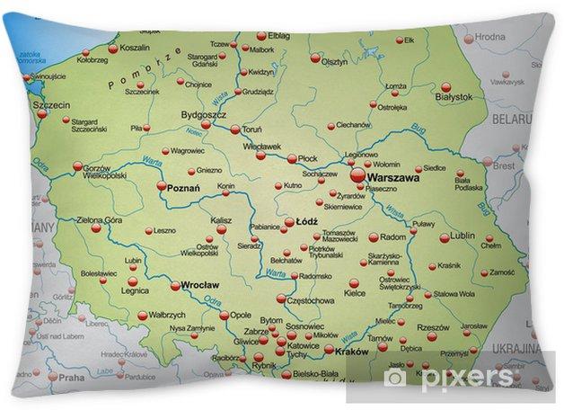 Landkarte Von Polen Mit Nachbarlandern Throw Pillow Pixers We