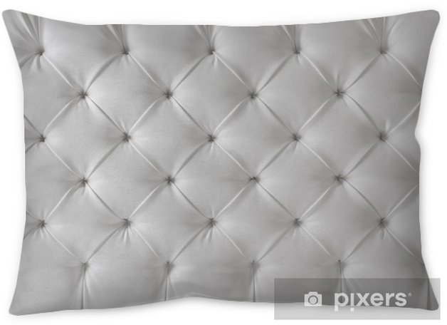 leather upholstery white sofa texture, pattern background Throw Pillow