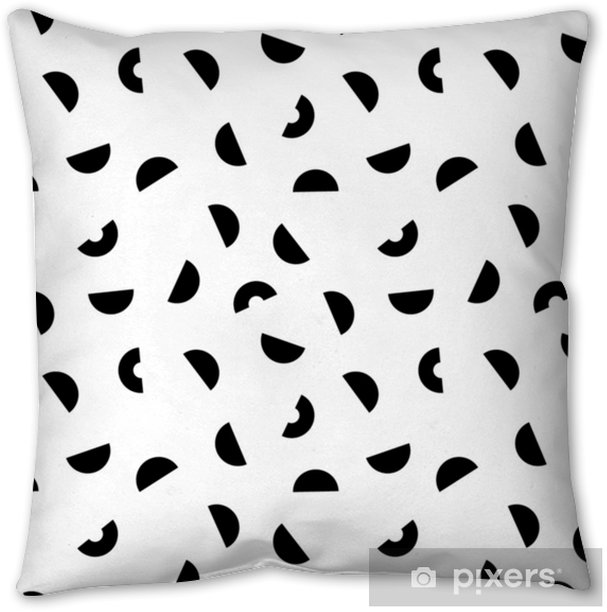 Memphis seamless pattern. Throw Pillow - Graphic Resources