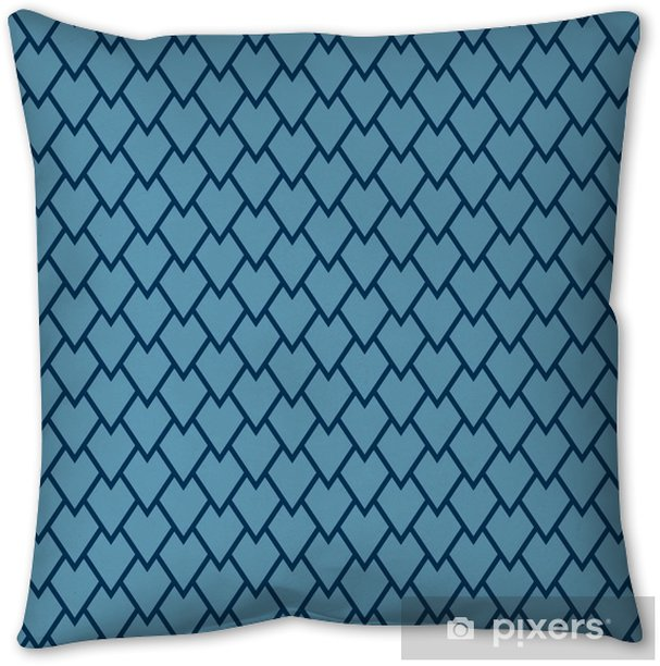 minimalistic blue scale pattern Throw Pillow - Graphic Resources