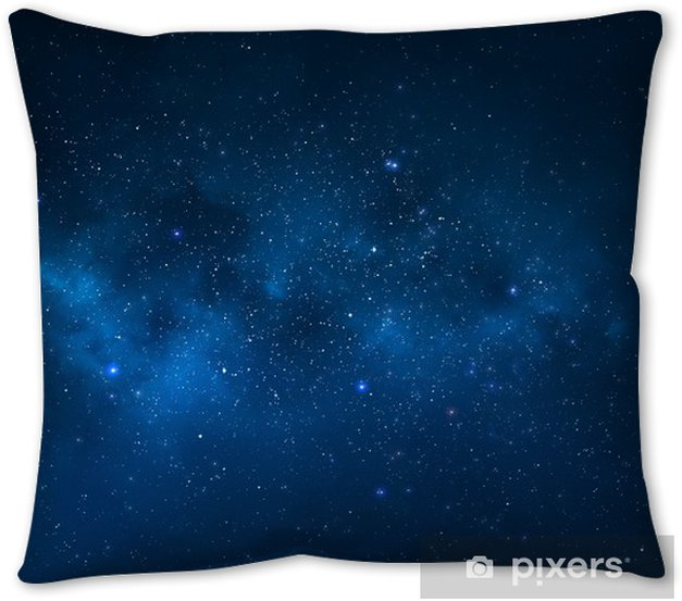 Night Sky Universe Filled With Stars Nebula And Galaxy Throw Pillow Pixers We Live To Change