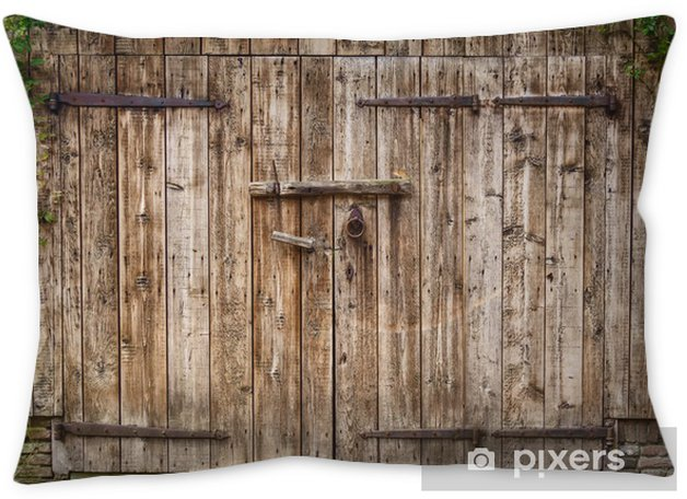 old weathered barn door throw pillow pixers we live to change