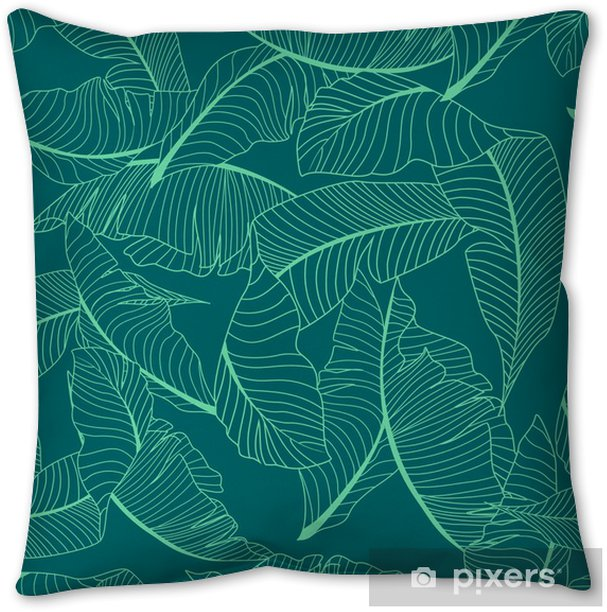 palm pattern Throw Pillow - Graphic Resources