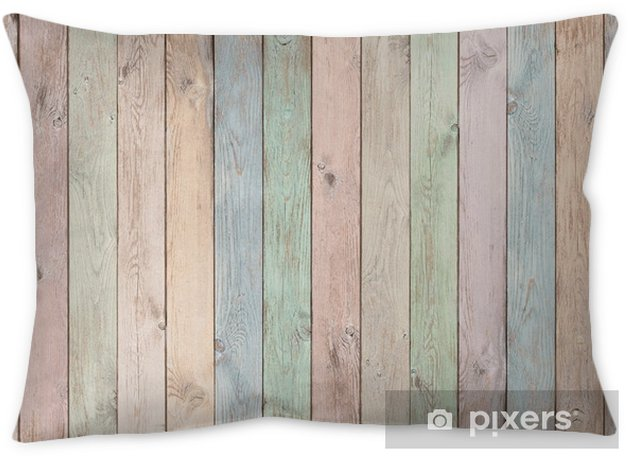 pastel colored wood planks texture or background Throw Pillow - Graphic Resources