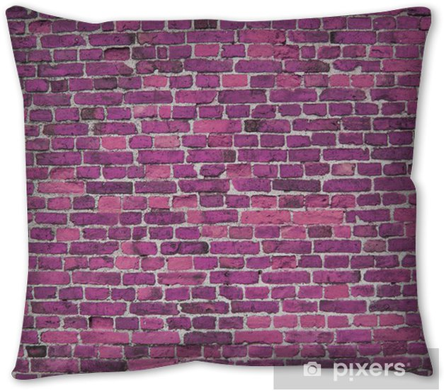 Purple Lilac Brick Wall Background Wallpaper Bricks Throw Pillow Pixers We Live To Change