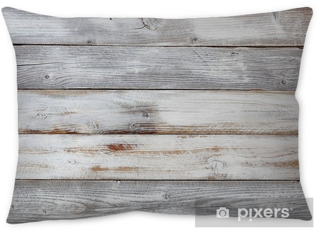 Reclaimed weathered white painted wooden boards Throw Pillow - Industry