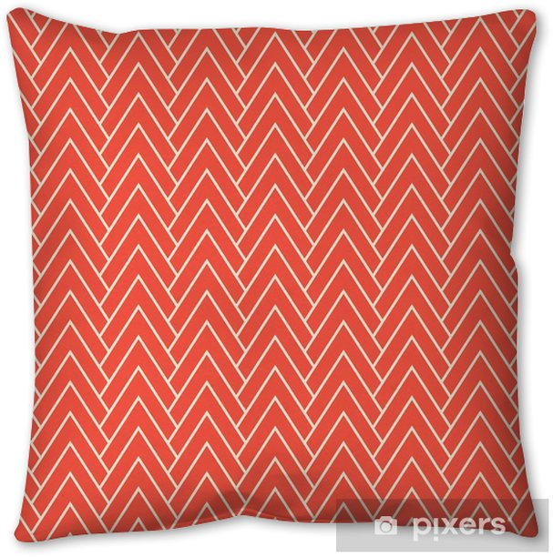 red chevron pattern Throw Pillow - Graphic Resources