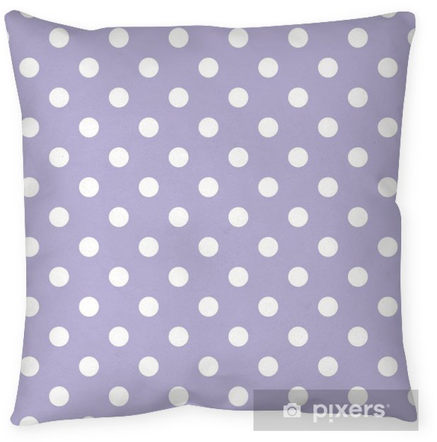 Retro seamless vector pattern, polka dots on violet background Throw Pillow - Themes
