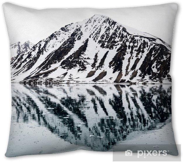 Rocks in Arctic Throw Pillow - Travel
