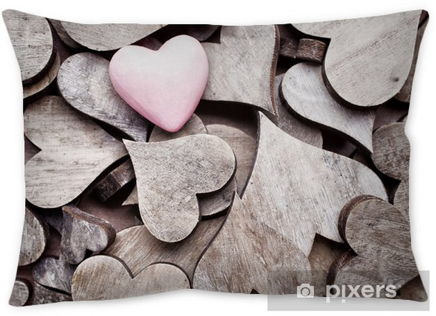 Rustic heart. Throw Pillow - Graphic Resources