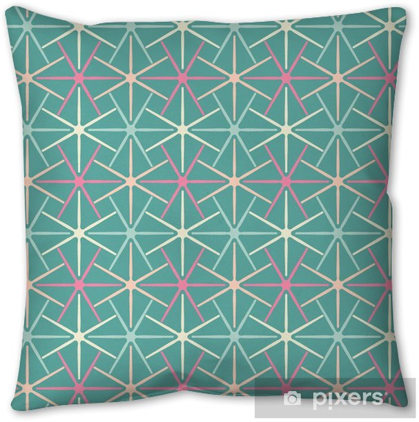 Seamless background abstract pattern with repeating star graphic ornament on the light background. Vector eps illustration Throw Pillow - Graphic Resources