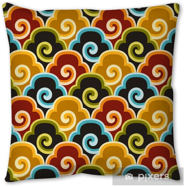 Seamless Chinese Auspicious Clouds Fabric Background Pattern Throw Pillow Pixers We Live To Change