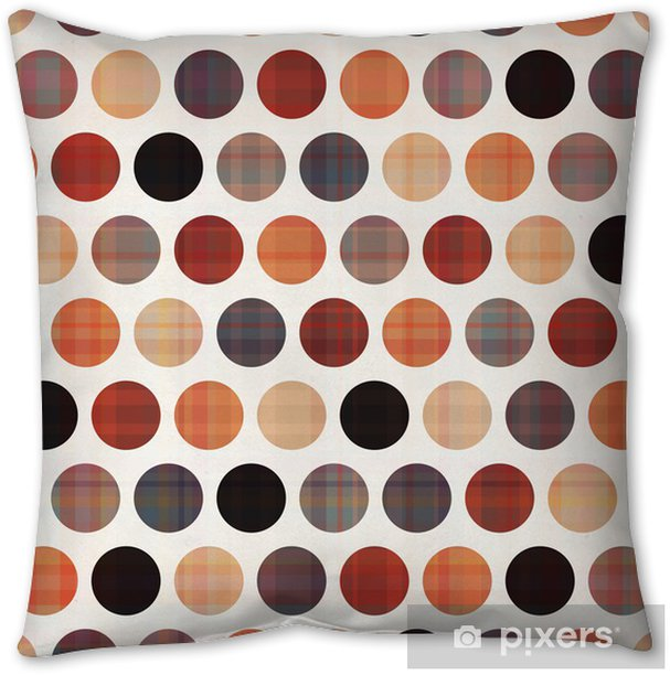 seamless circles background texture Throw Pillow - Themes
