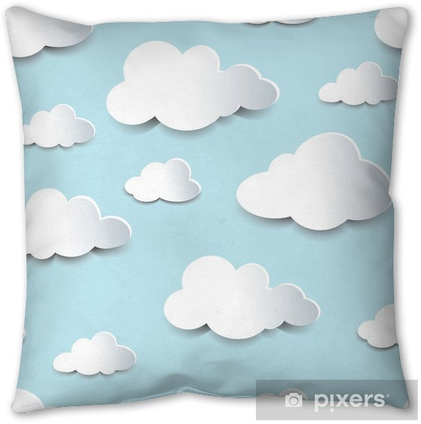 Seamless Cutout Clouds Throw Pillow Pixers We Live To Change