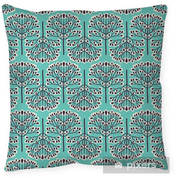 Seamless forest pattern Throw Pillow -