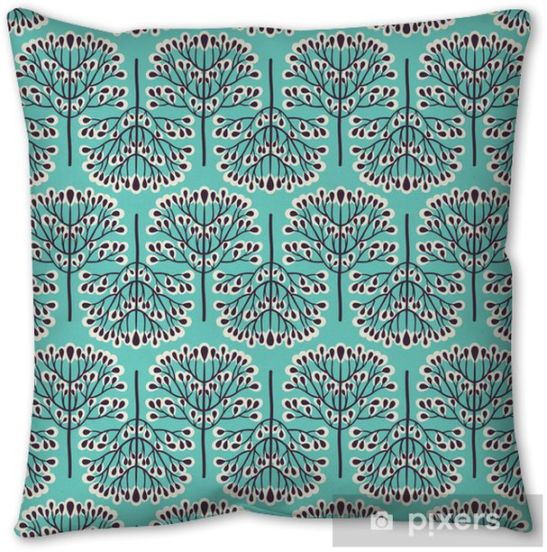 Seamless forest pattern Throw Pillow -