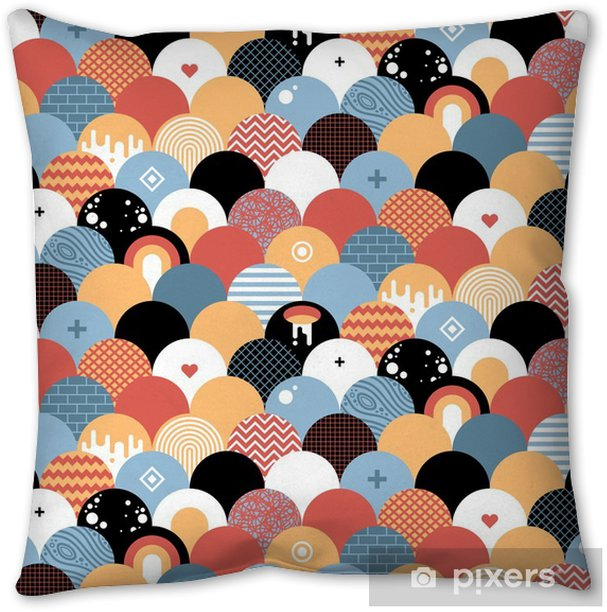 Seamless geometric pattern in flat style. Useful for wrapping, wallpapers and textile. Throw Pillow - Graphic Resources