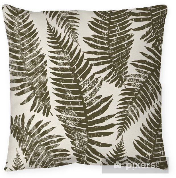 Seamless pattern of fern. Throw Pillow - Plants and Flowers