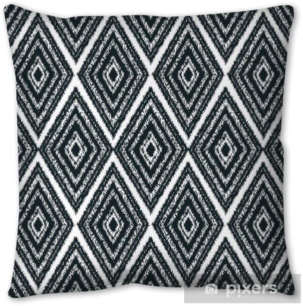 seamless pattern tribal navajo Throw Pillow - Graphic Resources