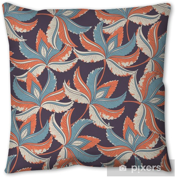 Seamless retro pattern Throw Pillow - Plants and Flowers