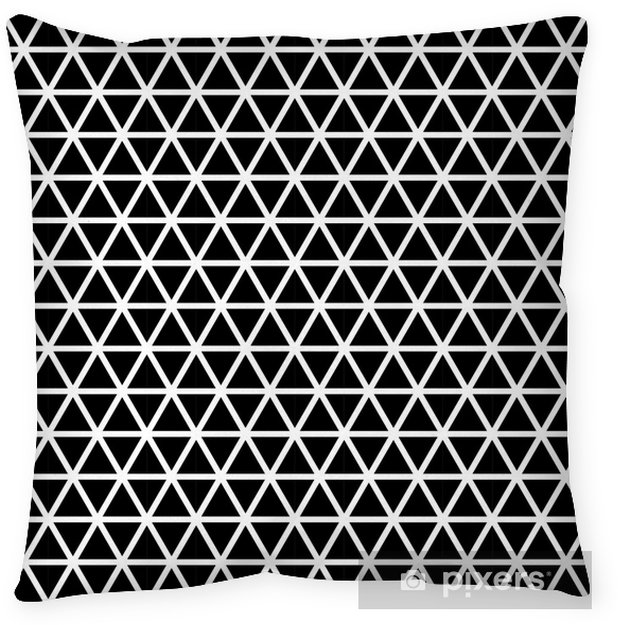 Seamless triangle pattern Throw Pillow - Graphic Resources