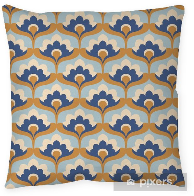 seamless vintage floral pattern Throw Pillow - Graphic Resources