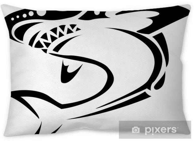 0e282571c31c Shark tribal tattoo Throw Pillow • Pixers® • We live to change