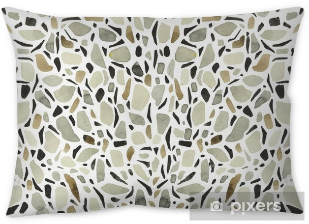Terrazzo Big. Background - white Throw Pillow - Buildings and Architecture